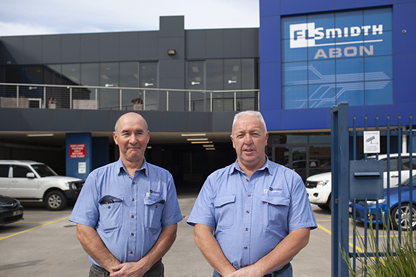 David Colasante CNC Manager left and Phillip Mulcahy General Manager